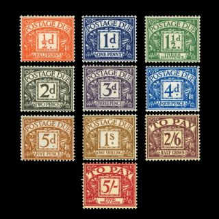 TUT1811 - GB - QEII - Edward Crown Postage Dues set of 10. CLICK FOR FULL DESCRIPTION